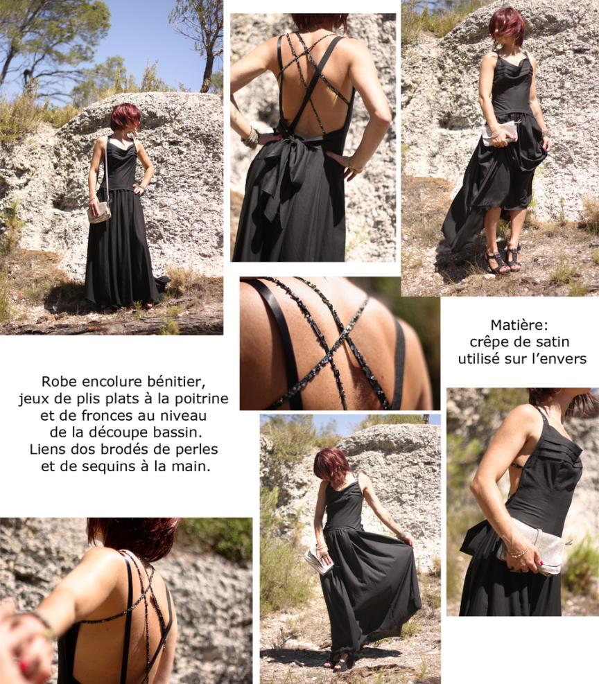 robe de soirée création de vêtements sur mesure