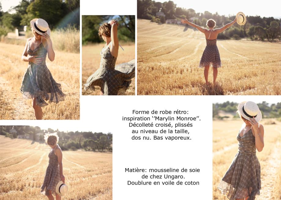 Robe marylin monroe création de vêtements sur mesure