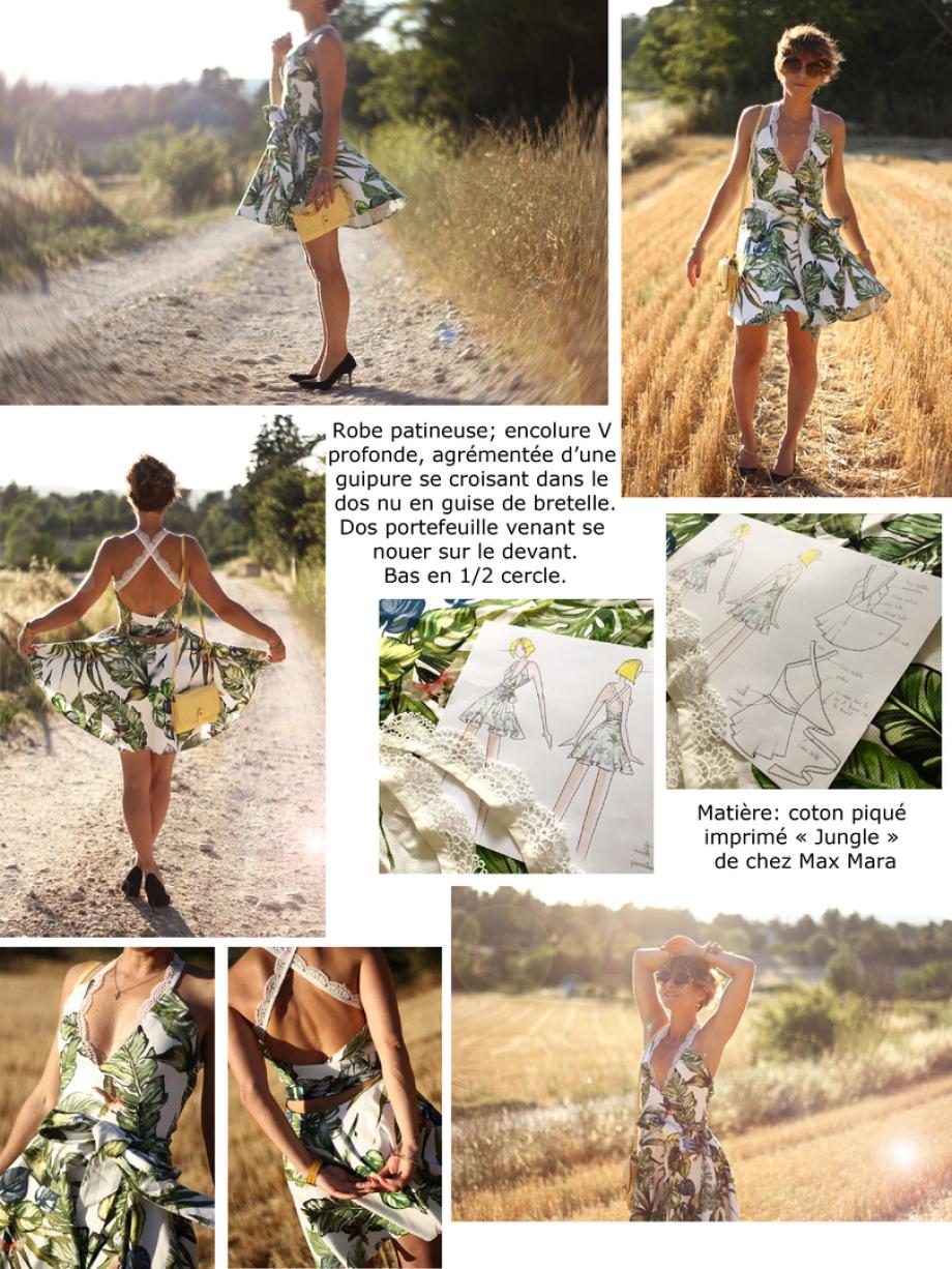 Imprimé jungle création de vêtement sur mesure