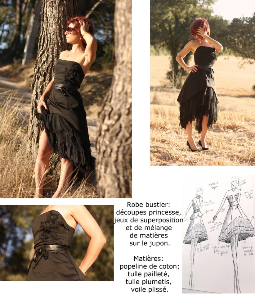 robe bustier création de vêtement sur mesure