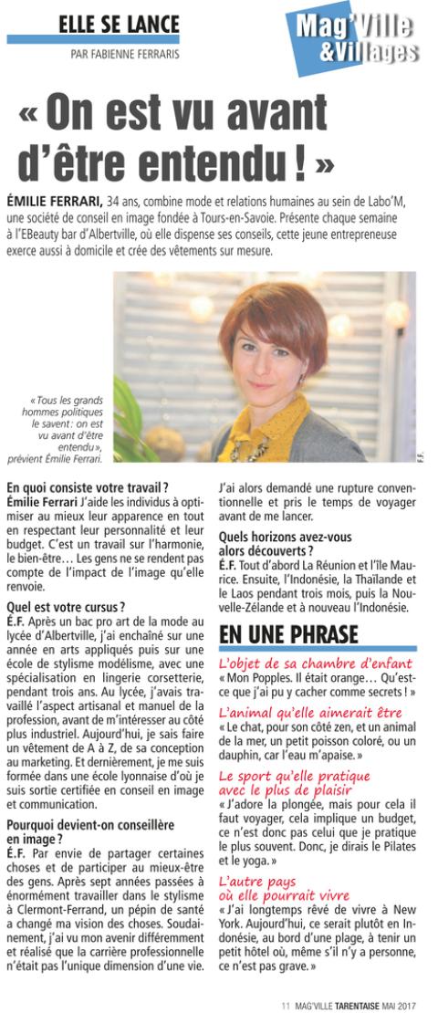 Emilie Ferrari article